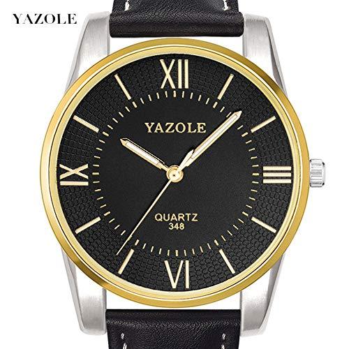 SUIYOUYU Luxusuhren Beiläufige Uhren, 348 YAZOLE Herrenuhr Uhr Herren Quartz Skin (Color : 1)