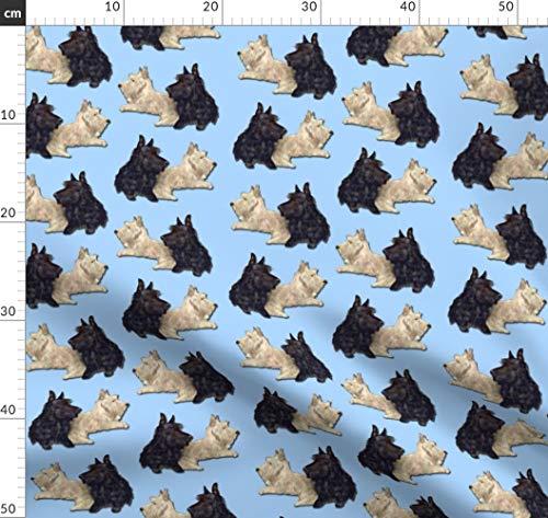 Hund, Welpe, Scottie, Scottish Terrier, Terrier Stoffe - Individuell Bedruckt von Spoonflower - Design von Eclectic House Gedruckt auf Minky -