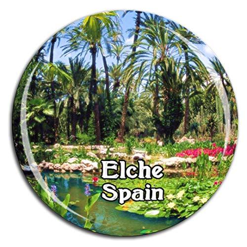 Elch-magnet (Weekino Palm Grove Elche Spanien Kühlschrankmagnet 3D Kristallglas Tourist City Travel Souvenir Collection Geschenk Starke Kühlschrank Aufkleber)
