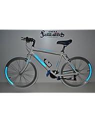 Bicicleta de carretera bicicleta carretera bicicleta de carreras bicicleta hombre híbrida 21V Blanca reflectante