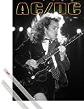 1art1 Poster + Hanger: AC/DC Poster (91x61 cm) Angus Young on Stage Inklusive Ein Paar Posterleisten, Transparent