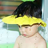 Ibepro Baby Safe shampoo Shower Bathing Protection Soft Shower Cap Hat Wash Hair Shield per bambini, per mantenere l' acqua fuori dal loro occhi e viso