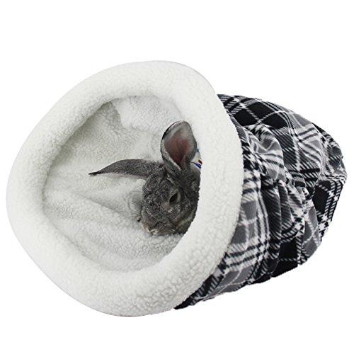Zucker Fleece weihnachtlich Matte Bett Käfige Hütten Höhle Kissen Häuschen Hütte für Welpe Katzen Kleintiere Ratten Hamster in weihnachtlich Hut 44u00d752cm