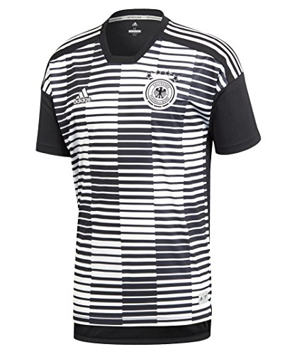 Match Herren Shirt (adidas Herren Dfb Pre-Match Shirt T-Shirt, White/Black, XL)