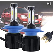 ePathChina® All-In-One LED Headlight Kit High/Low Beam Bulbs Automotive LED Headlamps for Cars 72W H4 HB2 9003 8000LM 6000K