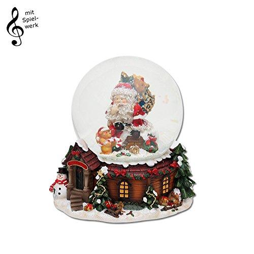 """Schneekugel mit Spieluhr \""""Here comes Santa Claus\"""""""