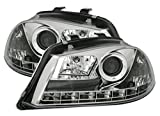 AD Tuning GmbH & Co. KG Scheinwerfer Set mit LED Tagfahrlicht Optik in Chrom