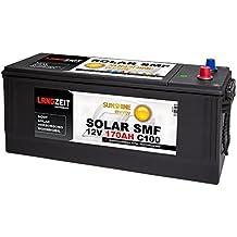 Solarbatterie 170Ah 12V Versorgungsbatterie Wohnmobil Batterie Boot Solar SMF Akku total wartungsfrei 140Ah