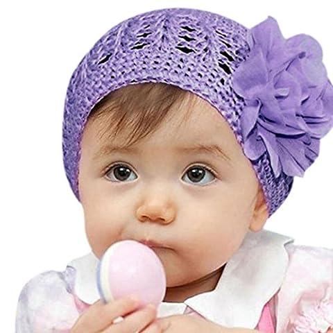 Clode® Fleur Toddlers Infant Bébés filles cheveux bande Bandeau Headwear Hat (Violet)