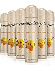 Impulse Sweet Smile Body Spray 75 ml - Pack of 6
