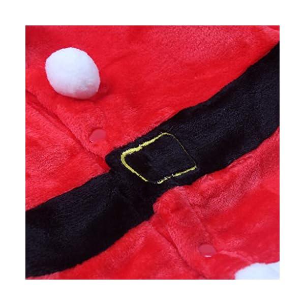 Navidad POLP Bebé Cosplay Tops Pantalones y Sombrero Cinturón Disfraz Conjuntos de 4 Piezas Rojo Verde Trajes Niñas… 4