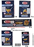 Barilla Senza Glutine Sortiment 1 x Fusilli- 2 x Ditalini Rigati 1 x Penne Rigate 1x Tortiglioni 2x Spaghetti je 400g = 2800g