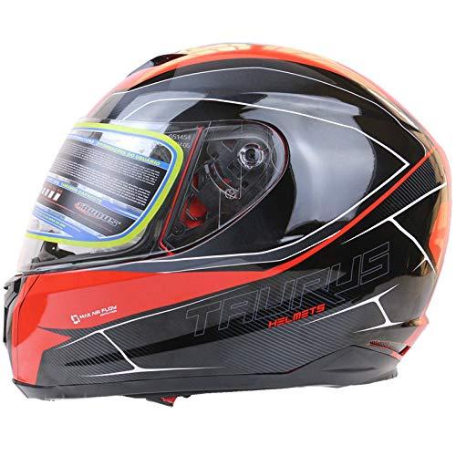 QXMEI Motorrad Helm Racing Vollgesichts Helm Vollabdeckung Staubdicht Windgeräusche Reduzieren Können Futter Entfernt Werden,B-S