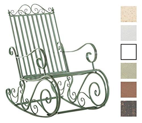 CLP Eisen Schaukel-Stuhl SMILLA, Landhaus-Stil, Design nostalgisch antik-grün