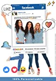 Marco photocall personalizado Facebook. Impreso en cartón de 4mm.
