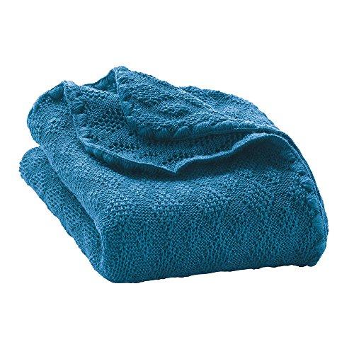 Disana Babydecke 80 x 100 cm aus Merino-Schurwolle kbT, Blau