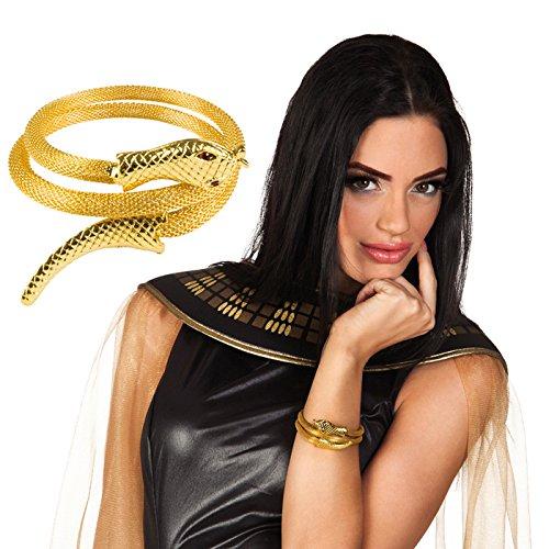 PARTY DISCOUNT Armreif Schlange / Ägypterin, Gold