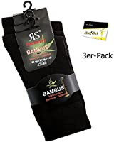 3er Pack Damen Viskose Socken Strümpfe ohne Gummi (RS-43033) - inkl. EveryHead-Hutfibel