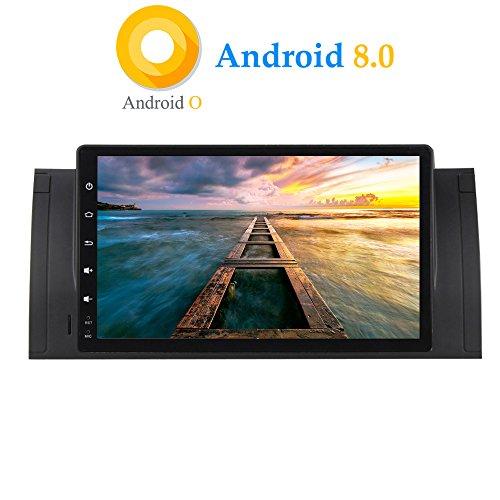 XISEDO Android 8.0 Autoradio In-dash Car Radio 9 Pollici Car Stereo 8-Core RAM 4G ROM 32G Navigatore GPS con Schermo di Tocco per BMW 5-E39/BMW X5-E53