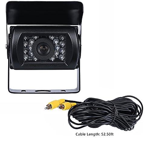 Caméra de recul Camion 12V 24V étanche 18IR Vision de nuit Couleur 170degrés Angle de vision véhicule Caméra de recul
