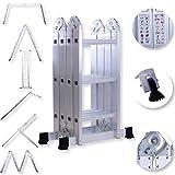 Masko 6in1 Mehrzweckleiter 3.40M ALU Anlegeleiter Klappleiter Stehleiter Aluminium Modell: