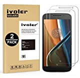 [Lot de 2] Motorola Moto G4 Protection écran, iVoler® Film Protection d'écran en Verre Trempé Glass Screen Protector Vitre Tempered pour Lenovo Motorola Moto G4 2016 - Dureté 9H, Ultra-mince 0.20 mm, 2.5D Bords Arrondis- Anti-rayure, Anti-traces de doig