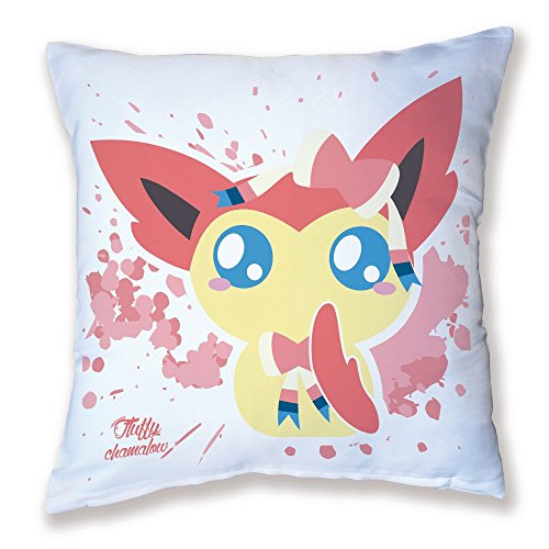 Coussin Décoration Pokemon Nymphali / Sylveon Chibi et Kawaii by Fluffy chamalow - Fabriqué en France - Chamalow Shop