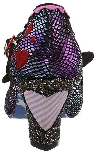 Irregular Choice I Heart Minnie, Scarpe Col Tacco Donna Purple (Purple Metallic)