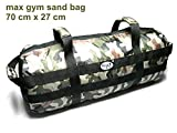 maxgym Weighted Training Bag Sand. Fitness Sandsack, Power Tasche Crossfit–Military