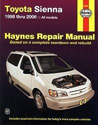 Haynes Repair Manual Toyota Sienna 1998 Thru 2006