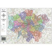 Greater London Authority Boroughs Administration Wall Map