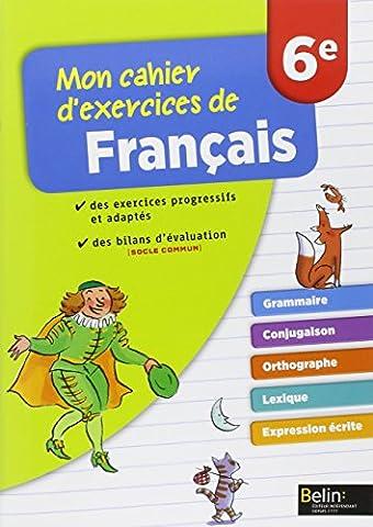 Mon cahier d'exercices de français