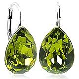 Ohrringe mit Kristallen von Swarovski® Grün Silber NOBEL SCHMUCK