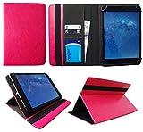 Wortmann Terra Pad 1004 10.1 Inch Tablet Rosa Universal Wallet Schutzhülle Folio ( 10 - 11 zoll ) von Sweet Tech