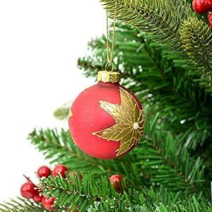Shatchi 15647-BAUBLES-6 bolas de cristal pintadas a mano para árbol de Navidad, decoraciones, decoración para el hogar, Navidad, multicolor