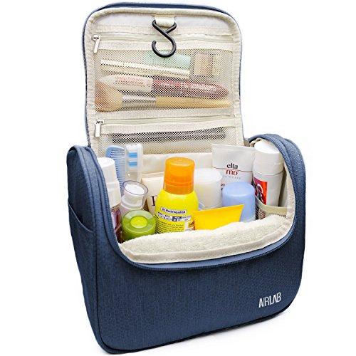 Beauty Case da viaggio Borsetta Viaggio, con gancio e maniglia, dimensioni: 24 x 19,5 x 12,6 cm, blu