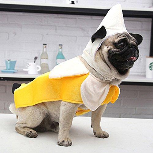 PanDaDa Hund Banana Kostüm Urlaub Cosplay Kleidung Nette Form Pet Coat