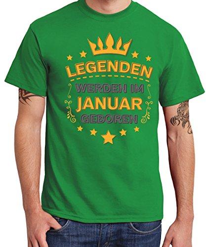 -- Legenden werden im Januar geboren -- Boys T-Shirt Kelly Green