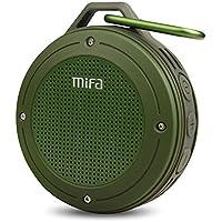 MIFA Altavoz Portátil Bluetooth Outdoor con 1200 mAh Batería Li-Ion y IP56 Impermeable y Anti-Polvo, Tarjeta Micro-SD, Micrófono para iPhone, iPad, Samsung, Nexus, Huawei, Laptops, Echo Dot, Verde
