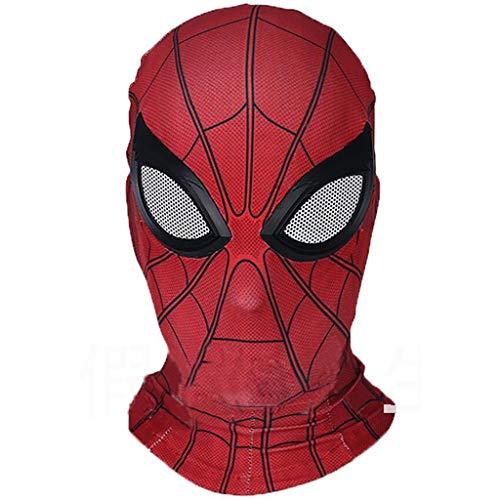 Liabb Unisex Spider-Man Gesichtsmaske Halloween Kostüm Party Maske Kapuze Kostüm Maske Kopfbedeckung Cosplay Halloween Maske Helm Requisiten Filme,A,OneSize