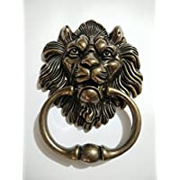 Lion Door Knocker Lion Head Beautiful Lion Mouth Accessories Gate Antique Bronze