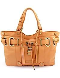 Bovari - Sac Shopper XL avec cadenas - Beige