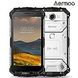 Telephone Portable Debloqué, Aermoo M1 Dual SIM Smartphone 4G Etanche, IP68 - Android 7.0 Telephone Incassable - 5.2 FHD - Helio P25 Octa-core - 6G RAM + 64G ROM, 8.0MP + 21.0MP - 5580mAh - Argent