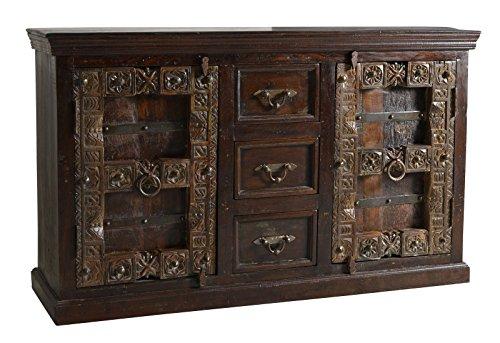 SIT-Möbel Almirah 5103-30 koloniales Sideboard, 2 Türen & 3 Schubladen, recyceltes Holz, 150x45x90...