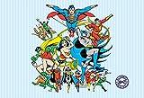 1 Wall Papier Peint Mural Motif Superman Batman Comic Justice League 1,58 X 2,32 m