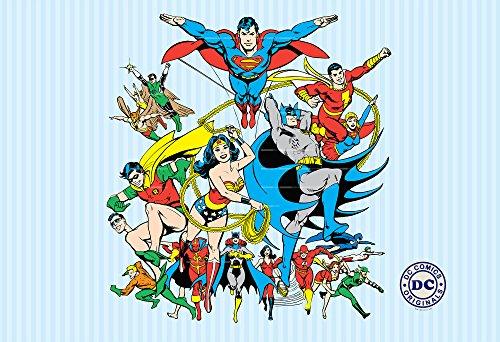 1Wall W2PL-DC COMICS-001 DC Comic-Hefte Wall Mural/Fototapete
