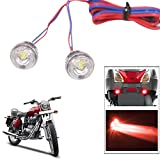#9: Vheelocityin 2pc. Bike/ Motorcycle/ Scooter Flasher LED Mini Flash Light RED ...