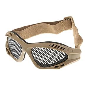 Homyl Taktische Schutzbrille Metallgitter Sport-Brille Gesichtsschutz Netz Brille