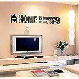 """ufengke® """"Home Is Wherever We Are Together"""" Citas y Refranes Pegatinas De Pared, Sala De Estar Dormitorio Removible Etiquetas De La Pared / Murales"""