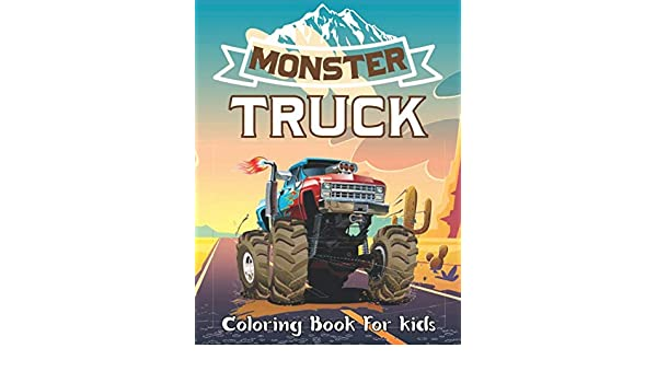 10 Wonderful Monster Truck Coloring Pages For Toddlers | 350x600